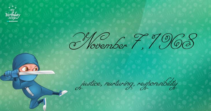 November 7, 1968 Birthday Ninja
