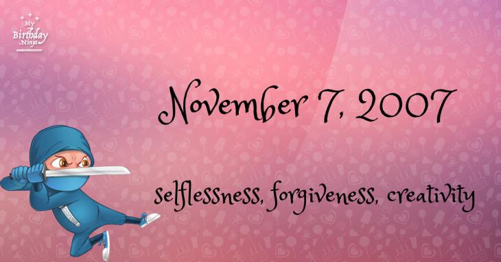 November 7, 2007 Birthday Ninja
