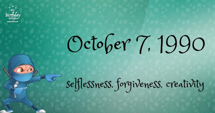 October 7, 1990 Birthday Ninja