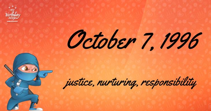 October 7, 1996 Birthday Ninja