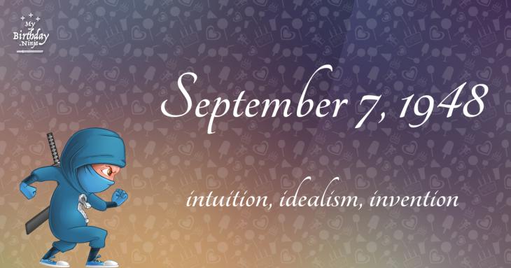 September 7, 1948 Birthday Ninja
