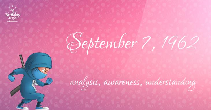 September 7, 1962 Birthday Ninja