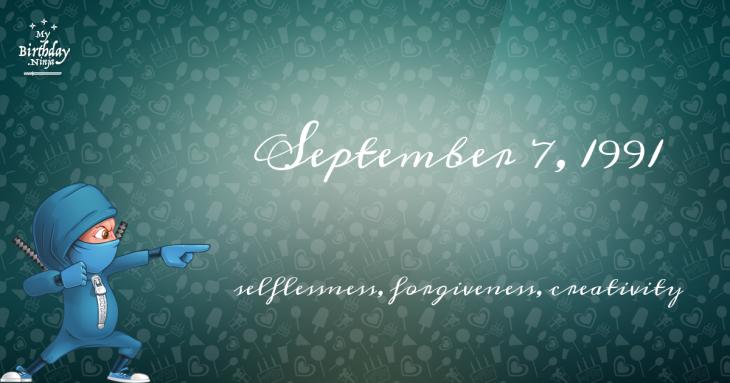 September 7, 1991 Birthday Ninja