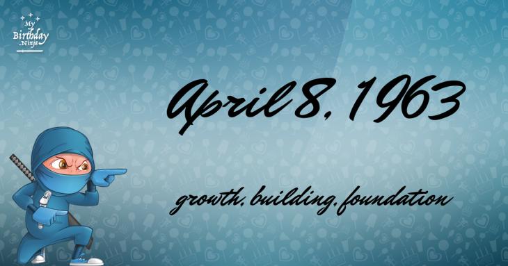 April 8, 1963 Birthday Ninja