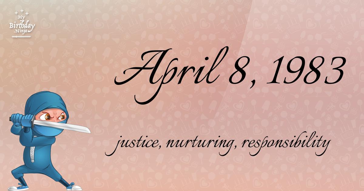 April 8, 1983 Birthday Ninja Poster