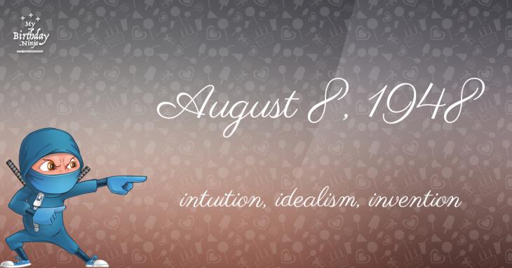 August 8, 1948 Birthday Ninja
