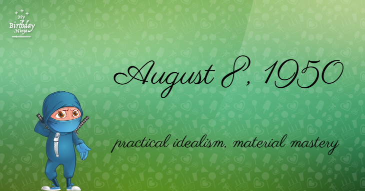 August 8, 1950 Birthday Ninja