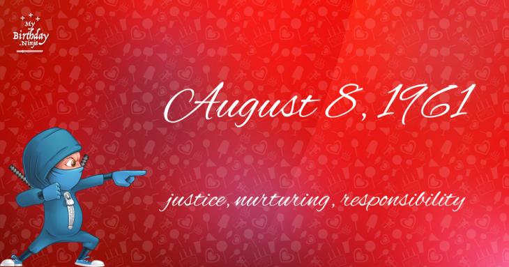 August 8, 1961 Birthday Ninja