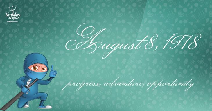August 8, 1978 Birthday Ninja