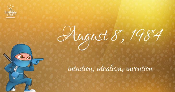 August 8, 1984 Birthday Ninja