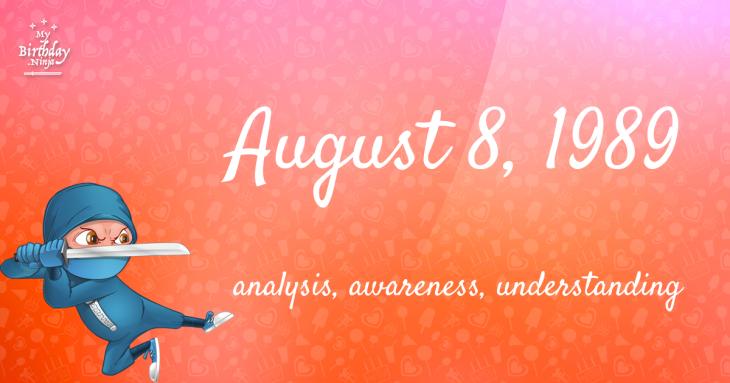 August 8, 1989 Birthday Ninja