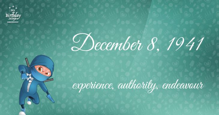 December 8, 1941 Birthday Ninja
