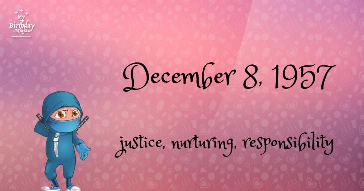 December 8, 1957 Birthday Ninja