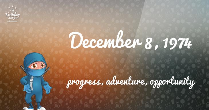 December 8, 1974 Birthday Ninja
