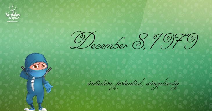 December 8, 1979 Birthday Ninja