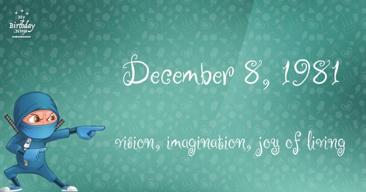 December 8, 1981 Birthday Ninja