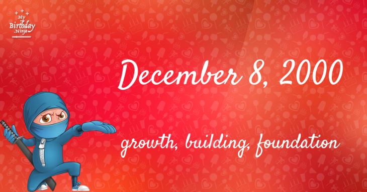 December 8, 2000 Birthday Ninja