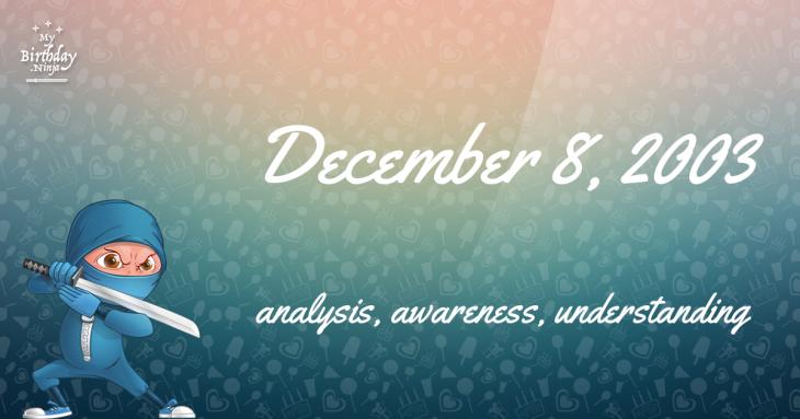 December 8, 2003 Birthday Ninja