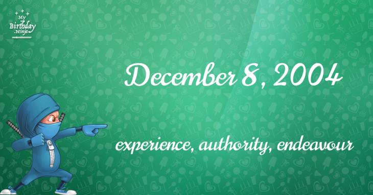 December 8, 2004 Birthday Ninja