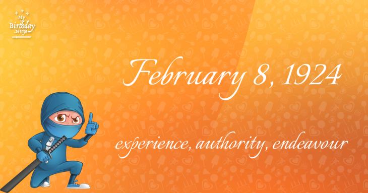 February 8, 1924 Birthday Ninja
