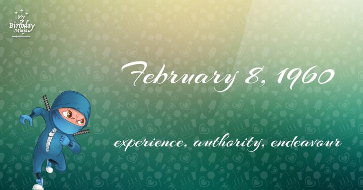 February 8, 1960 Birthday Ninja
