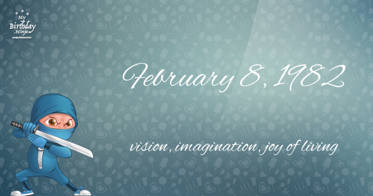 February 8, 1982 Birthday Ninja