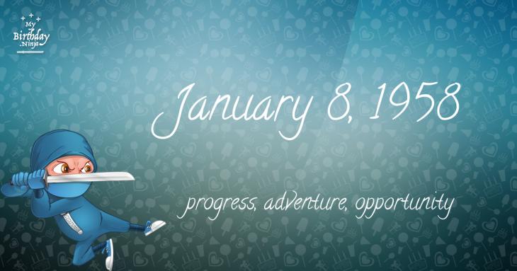 January 8, 1958 Birthday Ninja