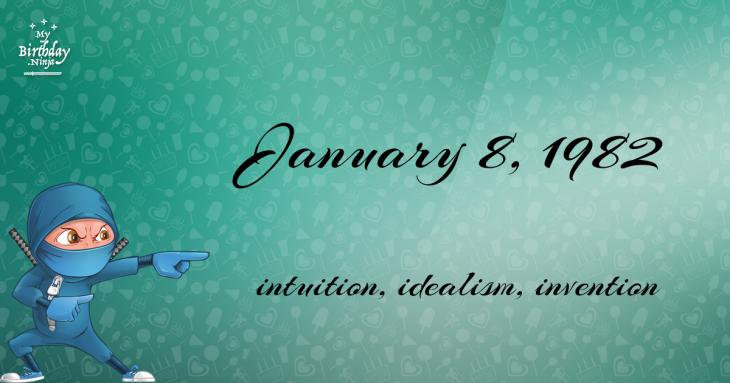 January 8, 1982 Birthday Ninja