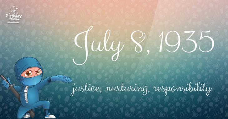 July 8, 1935 Birthday Ninja
