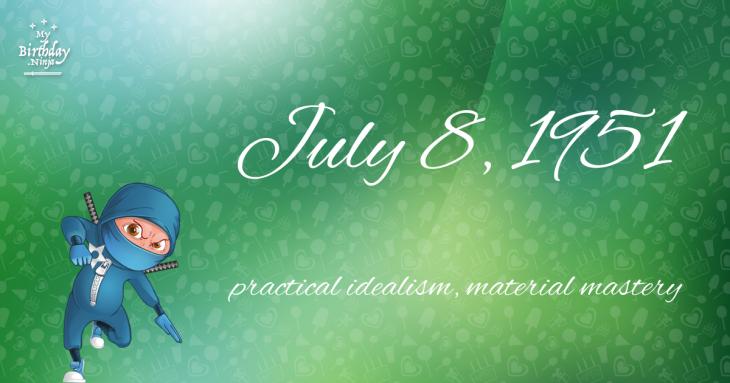 July 8, 1951 Birthday Ninja