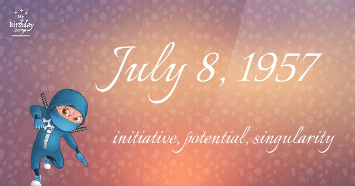July 8, 1957 Birthday Ninja
