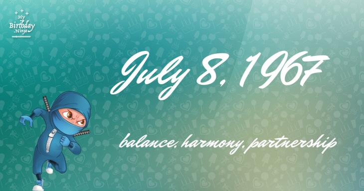 July 8, 1967 Birthday Ninja