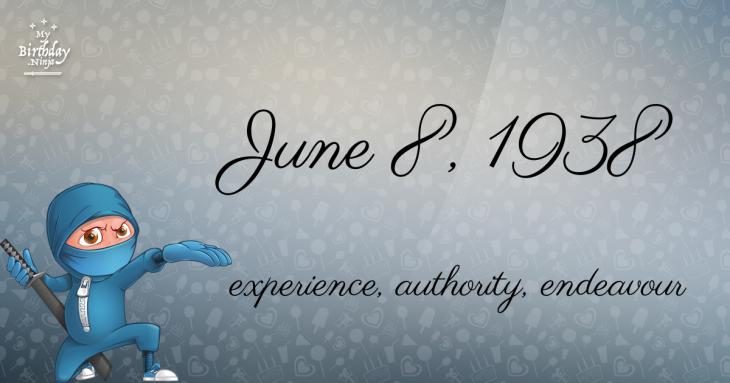 June 8, 1938 Birthday Ninja