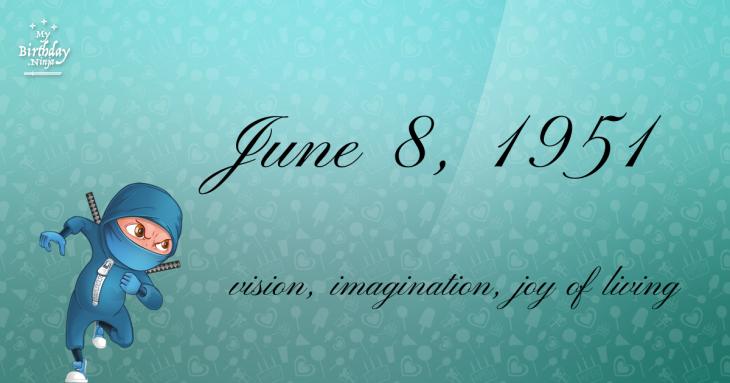 June 8, 1951 Birthday Ninja