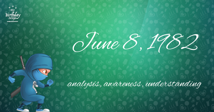 June 8, 1982 Birthday Ninja