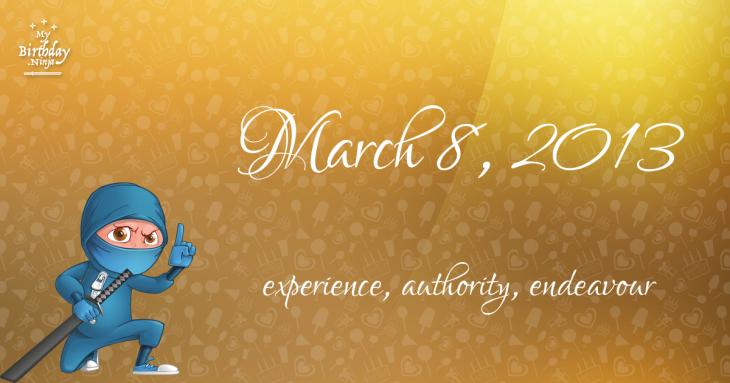 March 8, 2013 Birthday Ninja