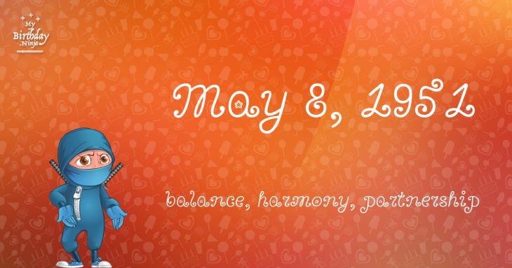 May 8, 1951 Birthday Ninja