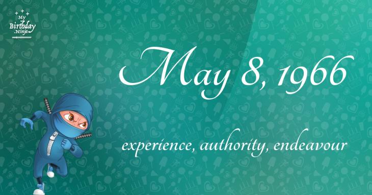 May 8, 1966 Birthday Ninja