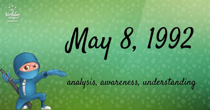 May 8, 1992 Birthday Ninja
