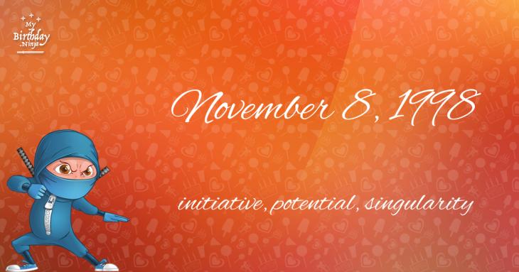 November 8, 1998 Birthday Ninja