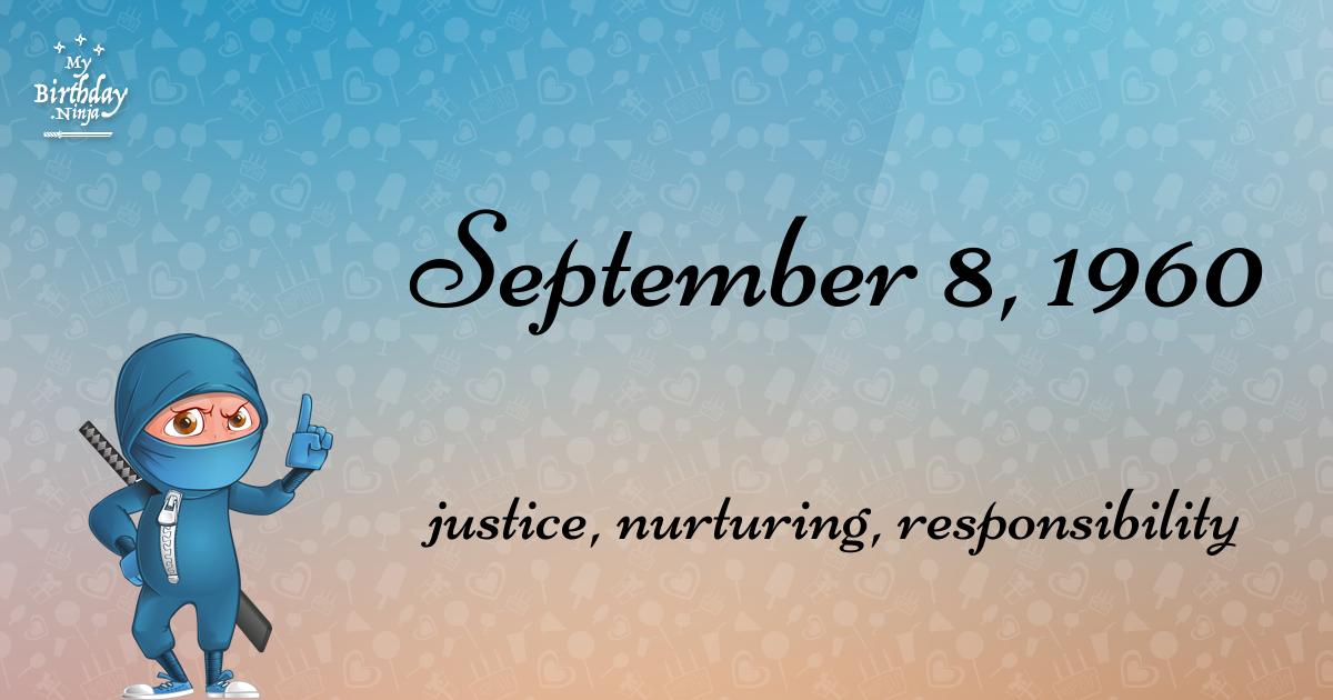September 8, 1960 Birthday Ninja Poster