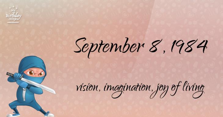 September 8, 1984 Birthday Ninja