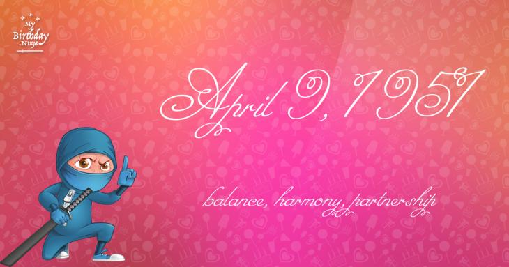 April 9, 1951 Birthday Ninja