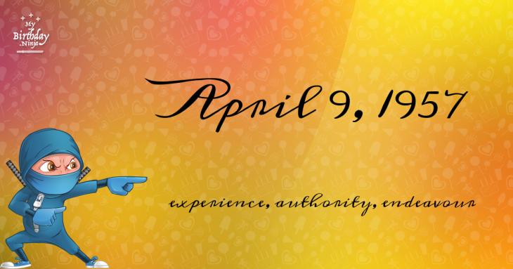 April 9, 1957 Birthday Ninja