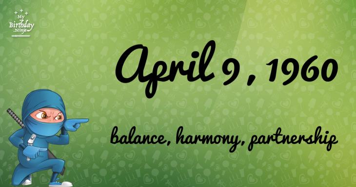 April 9, 1960 Birthday Ninja