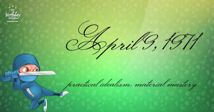 April 9, 1971 Birthday Ninja