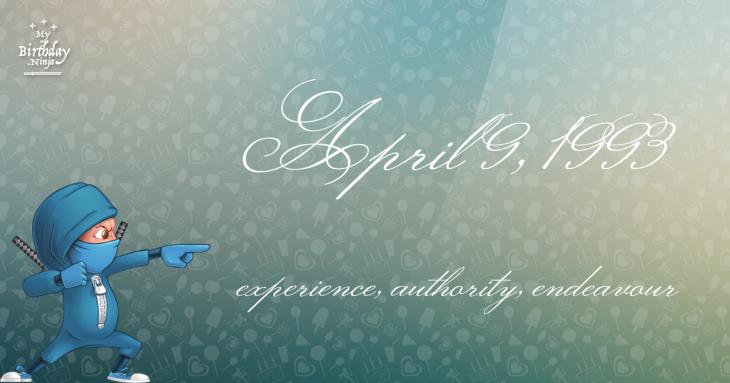 April 9, 1993 Birthday Ninja