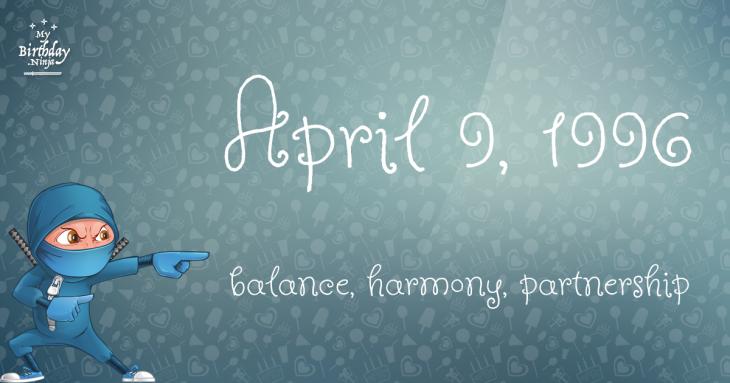 April 9, 1996 Birthday Ninja