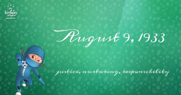 August 9, 1933 Birthday Ninja