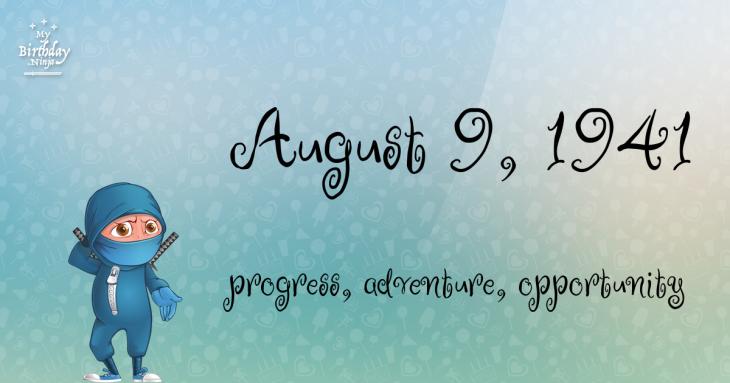 August 9, 1941 Birthday Ninja
